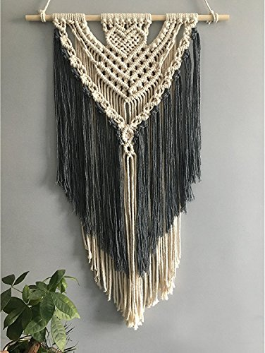 Youngeast 100% Handmade Boho Macrame Wall Hanging Home Décor Art Home Décor,31 x 16 Inches ()