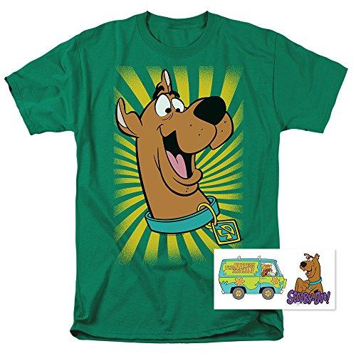 Tee Burst T-shirts - Scooby-Doo Burst Cartoon T Shirt & Stickers (XX-Large) Kelly Green