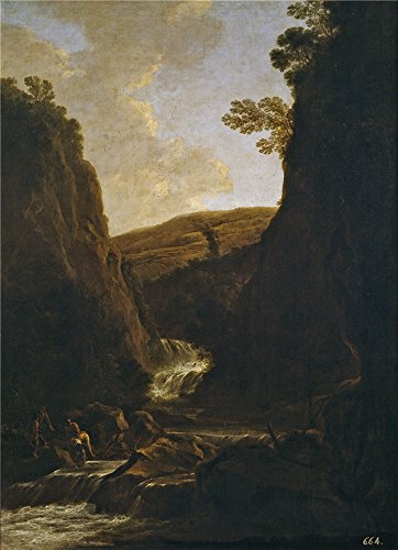 'Both Jan Paisaje Con Pescadores Y Pastores A La Orilla De Un Rio 1639 41 ' Oil Painting, 12 X 17 Inch / 30 X 42 Cm ,printed On High Quality Polyster Canvas ,this Beautiful Art Decorative Canvas Prints Is Perfectly Suitalbe For Powder Room Gallery Art And Home Artwork And Gifts
