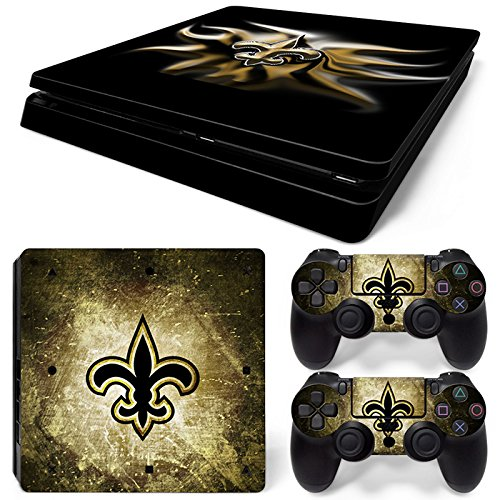 New Controller Orleans Saints (FriendlyTomato PS4 Slim Console and DualShock 4 Controller Skin Set - Football NFL - PlayStation 4 Slim Vinyl)