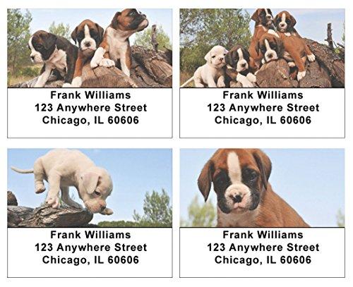 Boxer Puppies Address Labels