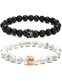 Couples Bracelet for Men Women Bead Bracelet with Crown...