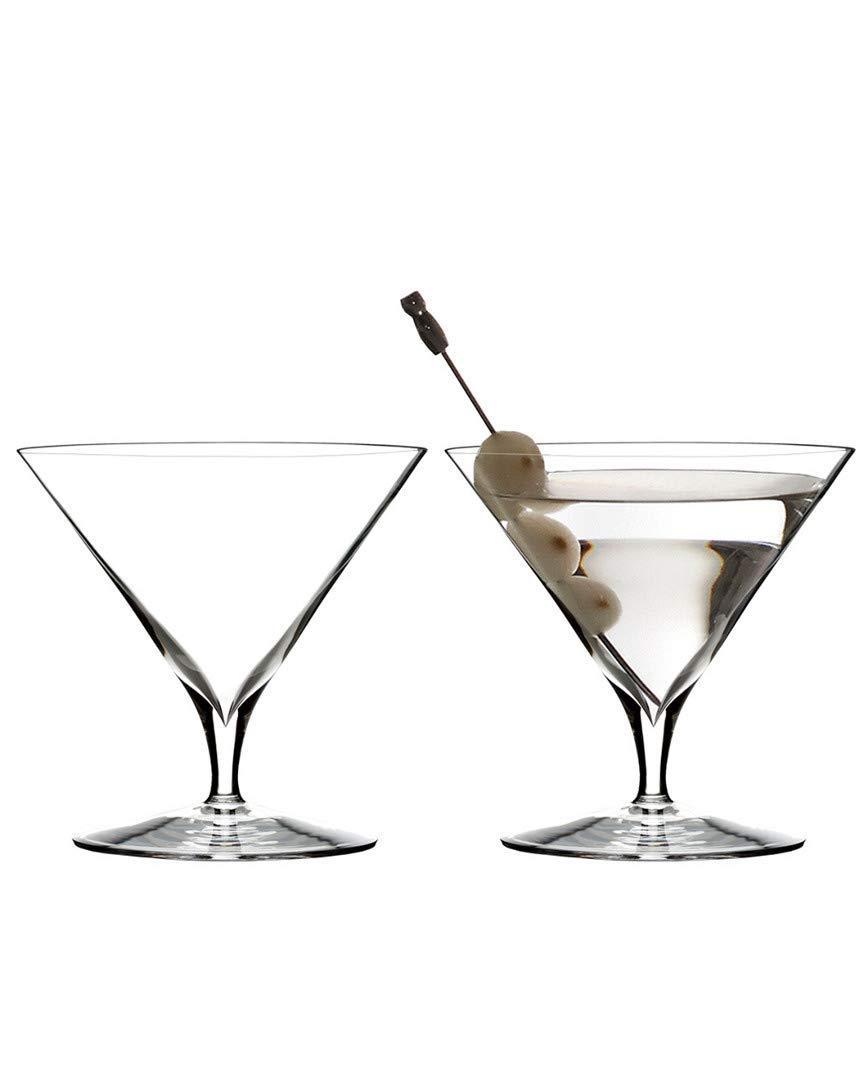 Martini Glass Engraved 11.2 oz Elegance 11.2 Oz Set of 2
