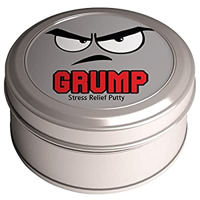 Grump Stress Relief Putty – Stress Relief Grumpy Gifts Funny Gag Gifts for Friends Kids Gifts Stocking Stuffers Secret Santa Gifts for Coworkers Weird White Elephant Ideas Purple Therapy Putty: Toys & Games