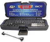 Vim Products VIM Tools VHC77 '77-Piece' Half Cut Stubby Bit Set