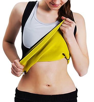 Roseate Women's Body Shaper Tummy Fat Burner Sweat Tank Top Weight Loss Workout Shapewear Sauna Girdles