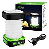 LE Portable LED Lantern Collapsible Camping Light USB Rechargeable 3 Modes Lamp for Outdoor Home Garden Hiking Emergency Outages (1)