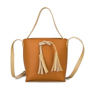 25df3f785f24 Amazon.com: Women PU Leather Handbag Shoulder Bag Candy Color ...