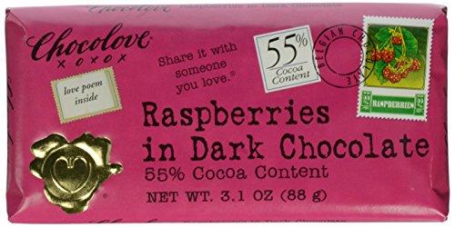 Chocolove Xoxo Raspberries In Dark Chocolate Bar -- 3.1 (Dark Chocolate Raspberry Bars)