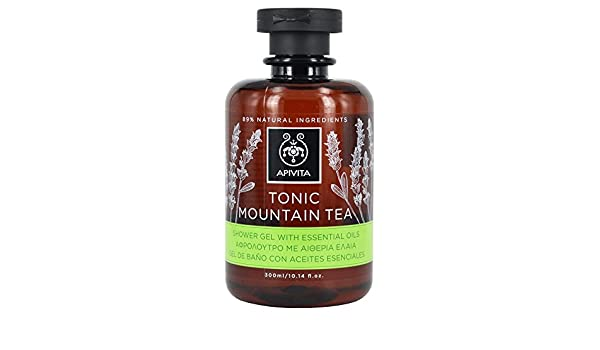 Apivita - Gel de baño mountain tea con aceites esenciales ...