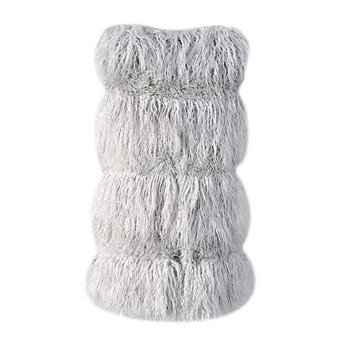Grande Femme Gilet Saoye Trendy Elégante Warm Fashion Taille Blouson Manteau Fourrure V Vêtements Coat Art Grau De Manches Désinvolte Sans Manche Hiver cou Uni wqXAIrX8