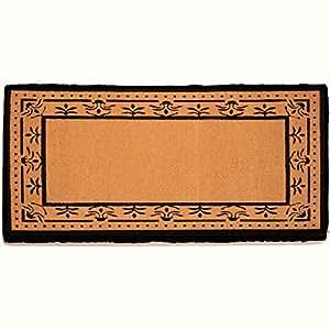 Lujo Fibra de coco en blanco non-personalized–Corinthian frontera (negro) 36x 72