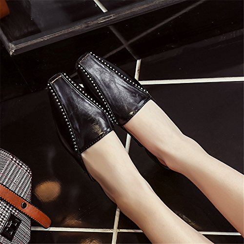 Black Shoes Summer Sandals Slippers Women pit4tk Flats Slippers Half Slides Mules Woman qFAXPT