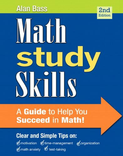 Math Study Skills (2nd Edition) (Study Skills in Developmental Math)