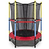 Jumping Trampoline for Kids Indoor / Outdoor Multi Child Trampolines Big & Small Diameter (55 Inch with Net)
