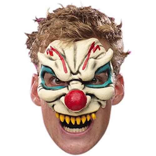 [Disguise Costumes Evil Clown Vinyl Chinless Mask, Adult] (Evil Clown Masks For Sale)