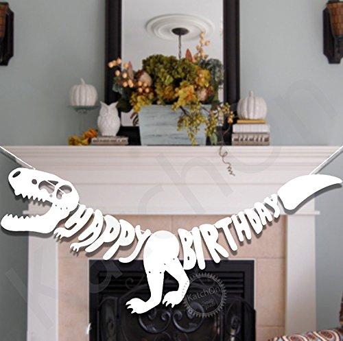 DINOSAUR BIRTHDAY BANNER PARTY SUPPLIES - 6 Foot | Large | Unique Decorations for Dinosaur Party Supplies | T-Rex Dinosaur Birthday Banner | Dinosaur Birthday Party Supplies | Little (Dinosaurs Party Ideas)