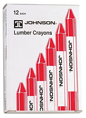 Johnson Level & Tool 3512-R Lumber Crayons, Red, 12-Pack