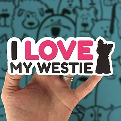 West Highland White Terrier Sticker - Westie Dog Decal for Car - 6