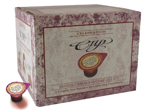Celebration Cup Communion Wafers and Pre-filled Juice Cups - 100 Count
