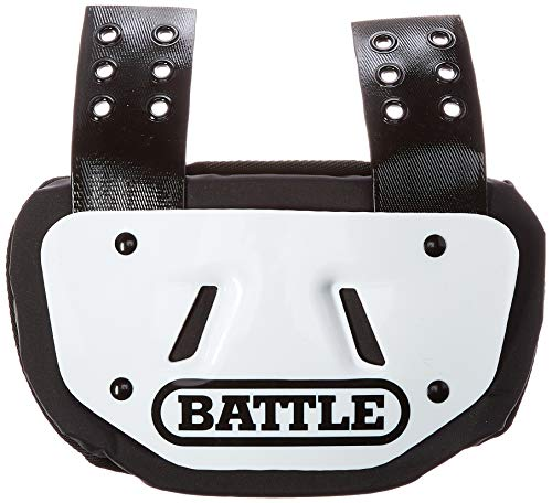 Battle Back Bone Back Plate - Rear Protector Lower Back Pads for Football Players - Backplate Shield with High Impact Foam Backing - Available in Youth and Adult Sizes