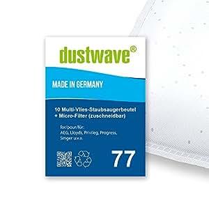 Pack de ahorro–10bolsas para aspiradoras Lloyds–.865/085, 865/085–Aspiradora de dustwave® Marca Bolsa para el polvo Fabricado en Alemania + Incluye Micro de filtro