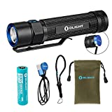 Olight S2R 1020 Lumen Rechargeable LED Flashlight with Magnetic Charger, Olight 3200mAh Rechargeable Battery, and LumenTac Adapters