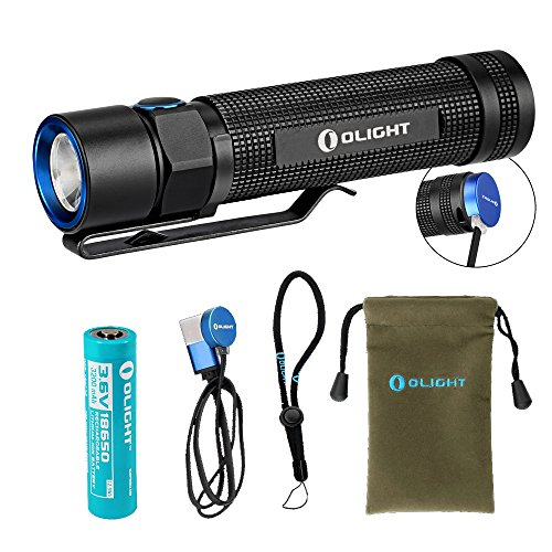 Olight S2R 1020 Lumen Rechargeable LED Flashlight with Magnetic Charger, Olight 3200mAh Rechargeable Battery, and LumenTac Adapters by OLIGHT