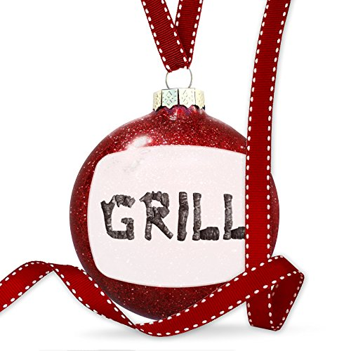 Christmas Decoration Grill Coal Grill Fire Place Ornament by NEONBLOND
