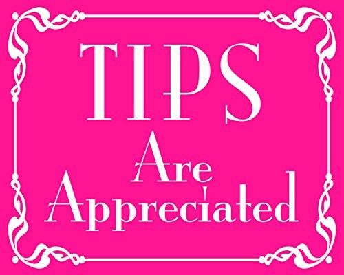 American Vinyl Pink Tips are Appreciated Sticker (jar Bartender - Sticker Bartender