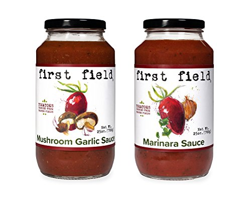 First Field Marinara Sauce and Mushroom Garlic Sauce, 2 Count