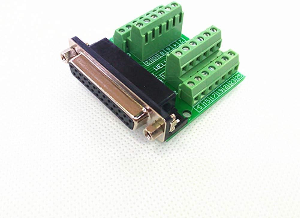 Conector DSUB macho /ángulo recto delgado ELECTRONICS-SALON DB9/placa breakout bloque de terminales