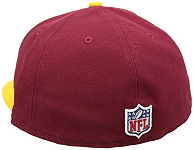 NFL Mens Washington Redskins On Field 5950 Burgundy Game Cap By New Era