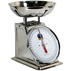 Sportsman Series Kitchen Baking Food Preparation 44 Lb Stainless Steel Dial Scale Measuring Tool