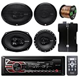 Pioneer DEH150MP Car Stereo CD Player Bundle Combo With 2x Rockford Fosgate 6.5'' 180 Watt 3-Way Full-Range Coaxial Speaker + 2x 6x9'' Audio Speaker + 800Watt 4 Channel Amplifier + 50Ft 16g Speaker Wire