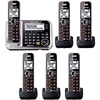 Panasonic KX-TG7875S 6 Handsets DECT 6.0 1-Line Bluetooth Cordless Phone