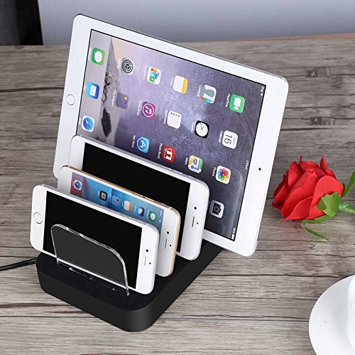 Universal 4 Port USB Charging Station & Dock for Smartphones, Tablets & Other Gadgets – USB Cables Included