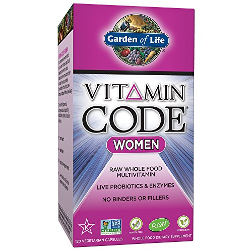 Garden of Life Vegetarian Multivitamin Supplement for Women Vitamin Code Women's Raw Whole Food Vitamin with Probiotics