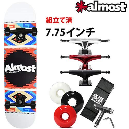 特売 ALMOST(オルモスト) スケボー コンプリート オールモスト AZTEC ブラック BLANKET 完成品 WHT 7.75×31.2インチ almost almost skateboards スケートボード 完成品 B07PRVD8QN ブラック レッドウィール, butler:39f7465b --- quiltersinfo.yarnslave.com