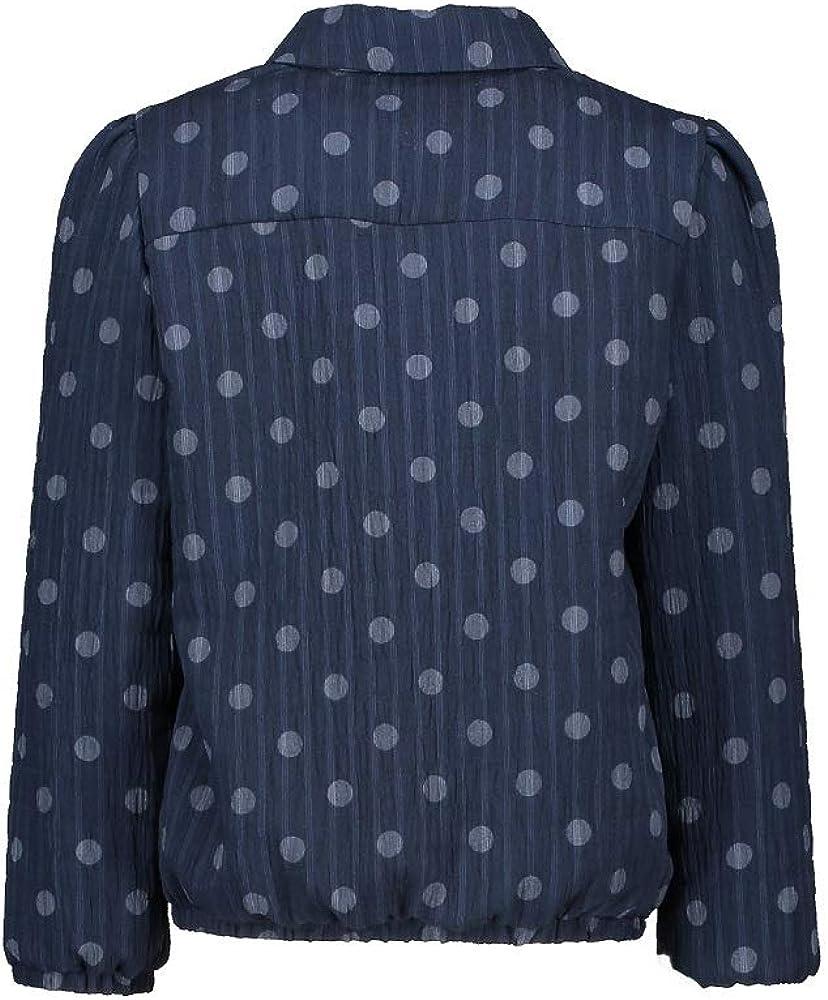 NONO Niñas Camisa Blusa Manga Larga Azul Marino Americana ...