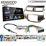 Volunteer Audio Kenwood DMX7705S Double Din Radio Install Kit with Apple CarPlay Android Auto Bluetooth Fits 2008-2012 Honda Accord (Gun Metallic Taupe)