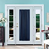 Deconovo Blackout Drapes Door Curtains Rod Pocket Door Panel Thermal Insulated Curtains for Door 54×72 inch Navy Blue 1 Panel For Sale