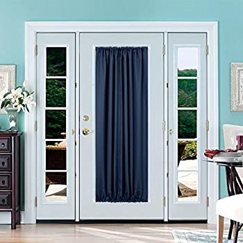 Merveilleux Deconovo Blackout Drapes Door Curtains Rod Pocket Door Panel Thermal  Insulated Curtains For Door 54x72 Inch