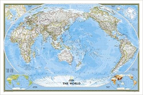 National geographic world classic pacific centered wall map national geographic world classic pacific centered wall map laminated 46 x 305 inches national geographic reference map 2017th edition gumiabroncs Images