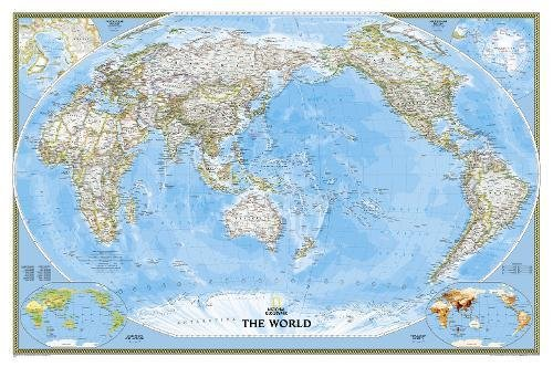 World Classic, Pacific Centered [Laminated] (National Geographic Reference Map)