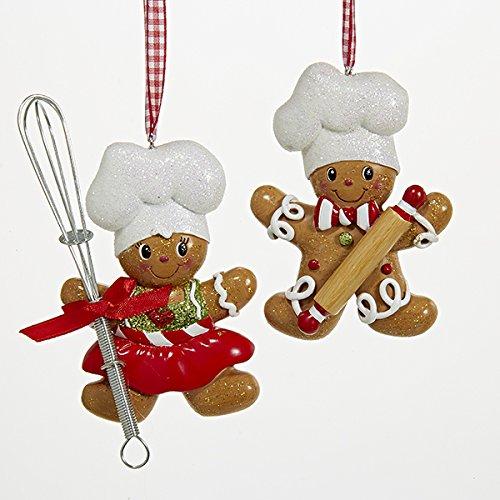 Gingerbread Girl Ornament (Kurt S. Adler Resin Gingerbread Boy And Girl Baker Christmas Ornaments Set of 2 Assorted)