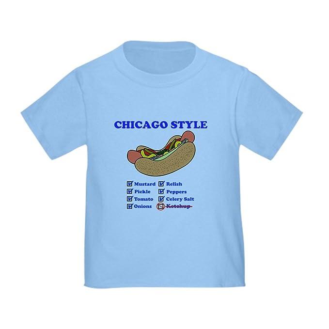 Amazon.com  CafePress - Chicago Style Hotdog Toddler T-Shirt - Cute ... 6b2d1f408