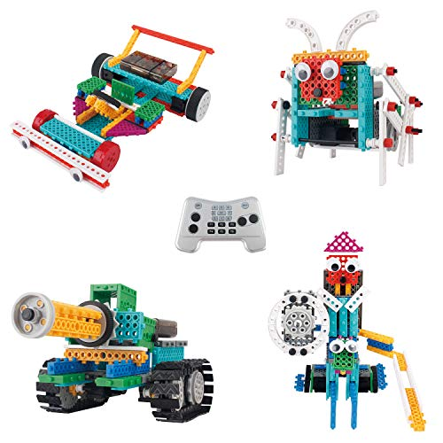 Think Gizmos Build Your Own Robot Toys for Kids - Ingenious Machines Remote Control Robot Building Kit ... (Tank, Bug, Racing Car & Knight) (Best Car To Build For Racing)