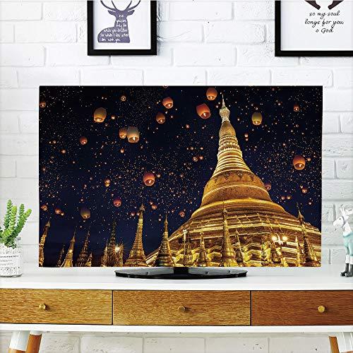 over Strong Durability,Lantern,Shwedagon Pagoda Yangon Myanmar Celebrations Sacred Places Temple Southeast Asia Decorative,Multicolor,Picture Print Design Compatible 47
