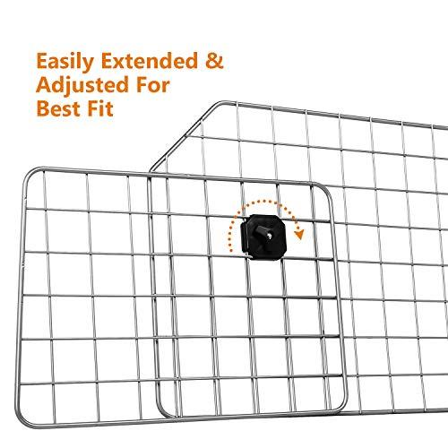 Sailnovo Dog Barrier for Car SUV Vehicles, Adjustable Pet Barrier Wire Mesh Dog Car Barrier for Cargo Area - Universal Fit by Sailnovo (Image #4)